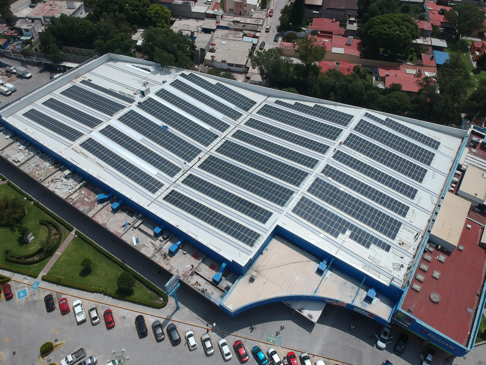 Instalacion en solar centro comercial Mexico ANAHUAC